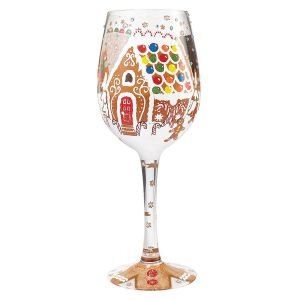Gingerbread Wonderland Wine Glass by Lolita