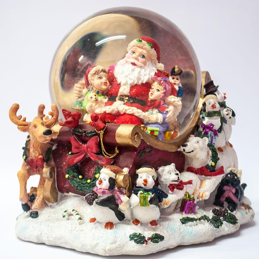 Immagini Natale Movimento.Carillon Slitta Babbo Natale In Movimento